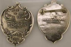 1909 Wright Brothers Homecoming Pin Sterling Wright Brothers, 1909 homecoming, Birthplace of Aviation, Dayton Ohio,