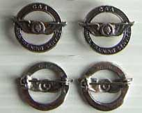 WWII CAA indian Head Collar Insignia sterling