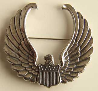 WWII Instructor Hat badge Sterling CAA, WTS, War Training Service, Pilot training, CPT wings, CAA Wings