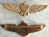 WW I Navy Pilot Wing Star Mini Sterling w Gold Plate
