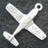 T-37 Tweet Sterling Charm T-37, Aircraft charm, Cessna Tweet, Tweet, Sterling charm. sterling aircraft