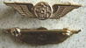 WWII CAA Collar Insignia Wright Flyer Sterling