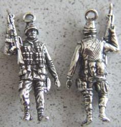 US Army Combat Soldier Sterling Charm US Army, Army soldier, combat soldier, infantry,