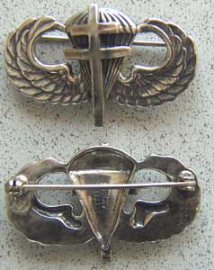 WWII Free French Paratrooper Badge Sterling
