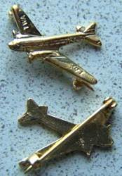TWA DC-3 Airplane Sterling Pin DC-3, C-47