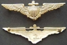 WWI US Navy Pilot wing sterling w gold plate BB&B