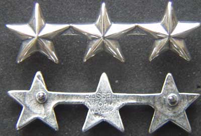 WWII 3 Star Collar Sterling