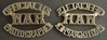 WWII War Photographer Shoulder Badge British Brass