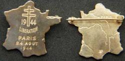 Paris Libration WWII Sterling pin
