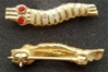 WWII Parachute Caterpillar Pin sterling w gold plate Caterpillar, Parachute, WWII, Caterpillar pin