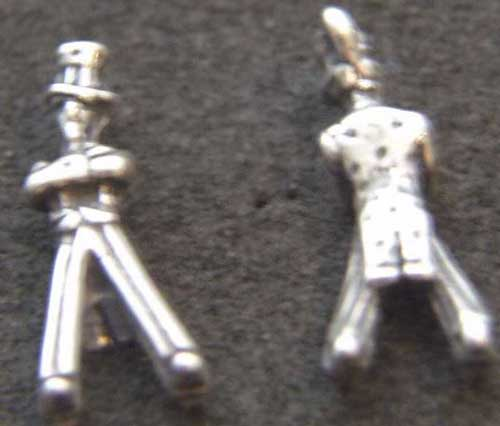 Uncle Sam Sterling Charm Uncle Sam, Sterling Uncle Sam Charm, Uncle Sam Charm