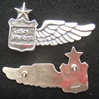 Vietnam Air America Stewardess Wings Sterling Air America, Vietnam, CIA, Stewardess wing, sterling wing, silver wing