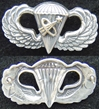 Astronaut Paratrooper Sterling Astronaut,  Paratrooper Badge, Col. Joe Kittinger