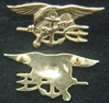US Navy Seals Insignia Sterling / Gold Plate Mess Dress Navy Seals, Seals, Mess Dress Seal, Seal Insignia, Sterling