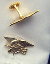 US Navy Seals Insignia Sterling Cuff Links Mess Dress, Seal Cuff Links, Sterling Cuff Links, Navy Seals, Seals