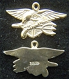 US Navy Seals Insignia Sterling / Gold Plate Charm Navy Seals Charm, Navy Seals, Sterling charm.
