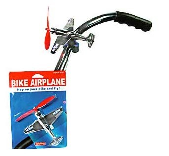 Bike Airplane with Spinning Propeller