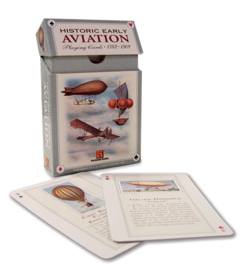 Historic Early Aviation Playing Cards