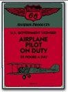 Airplane Pilot on Duty Magnet