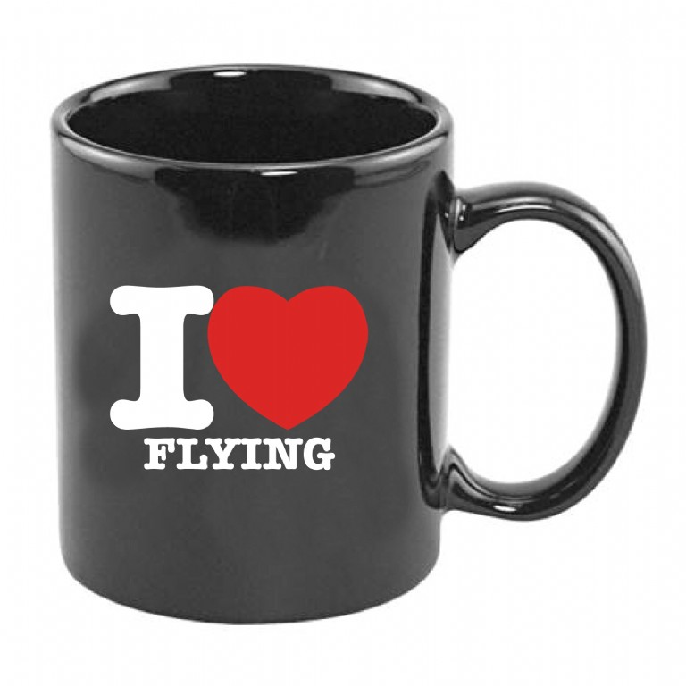 Coffee Mug - I Love Flying