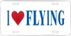 License Plate - I Love Flying