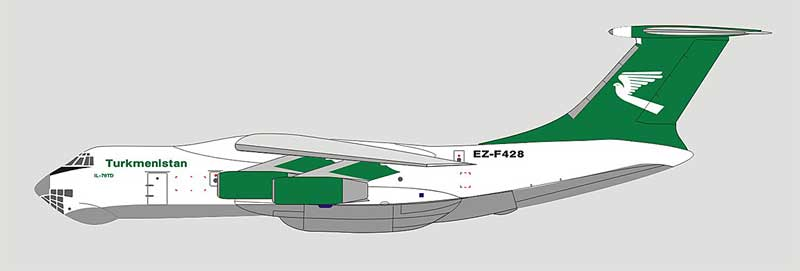 Turkmenistan Airways IL-76 EZ-F428 (1:400)
