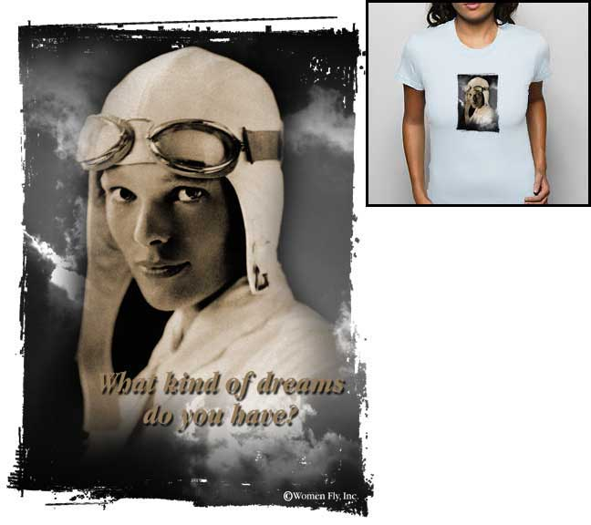 Amelia Earhart Dream T-shirt