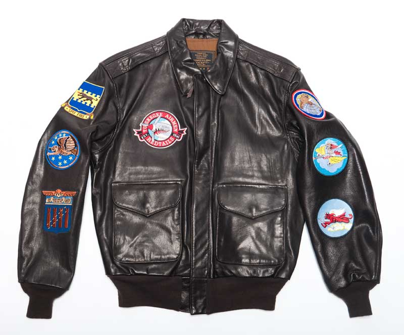 Tuskegee Airmen A-2 Jacket with Patches