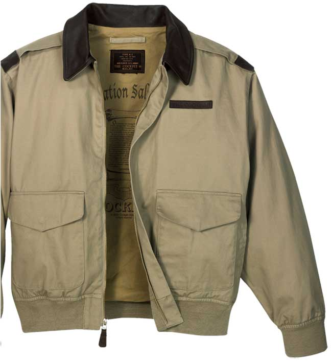 "The Cockpit all Cotton ""100 Mission"" A-2 Jacket"
