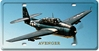 TBM Avenger License Plate