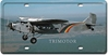 Ford Trimotor License Plate