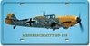 Messerschmitt BF-109 License Plate