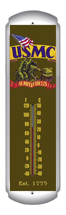 USMC Thermometer (17 inch x 5 inch)