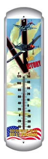 V for Victory Thermometer (17 inch x 5 inch)