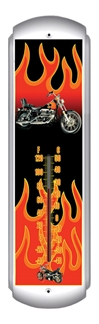 Chopper Flames Thermometer (17 inch x 5 inch)