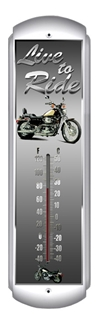 Live to Ride Thermometer (17 inch x 5 inch)