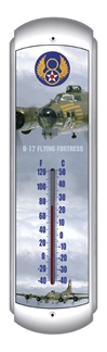 B-17 Flying Fortress Thermometer (17 inch x 5 inch)