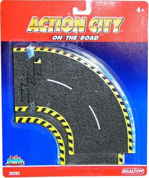 Action City On The Road Curve Tracks
