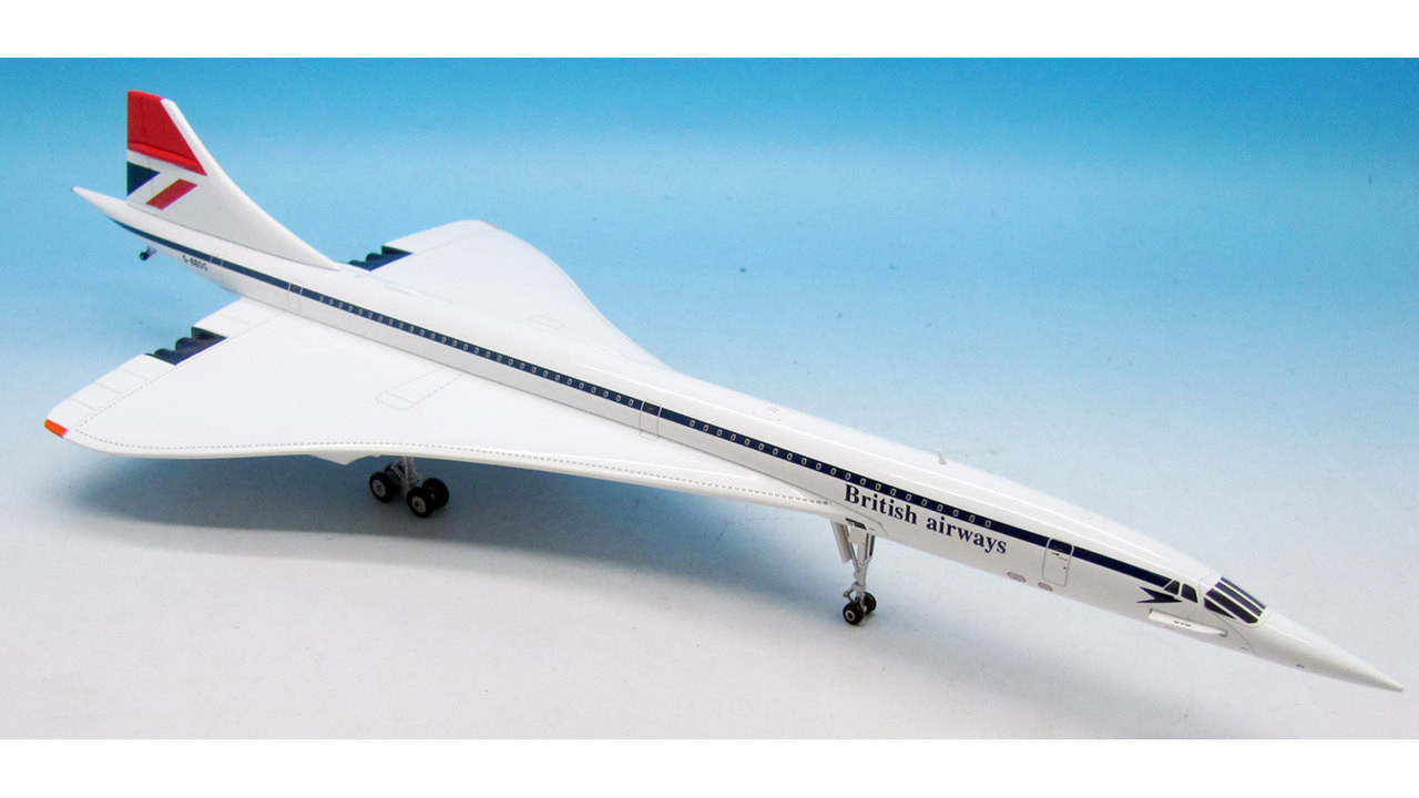 "British Airways Concorde G-BBDG Polished ""Red Tail"" (1:200) - Exclusive for Brooklands Museum - ARD2032"