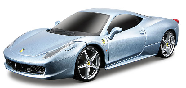 Ferrari 458 Italia in Metallic Light Blue- Remote Control Car - 27 MHZ (1:24)