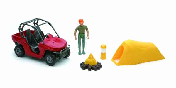 Xtreme Adventure Playset - Man with ATV and Tent