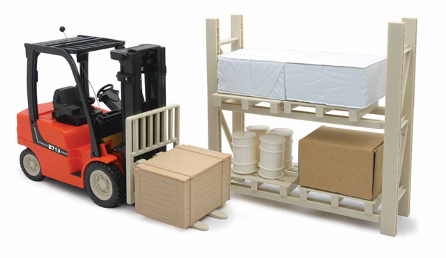 Forklift with Rack and Accessories  (1:14)