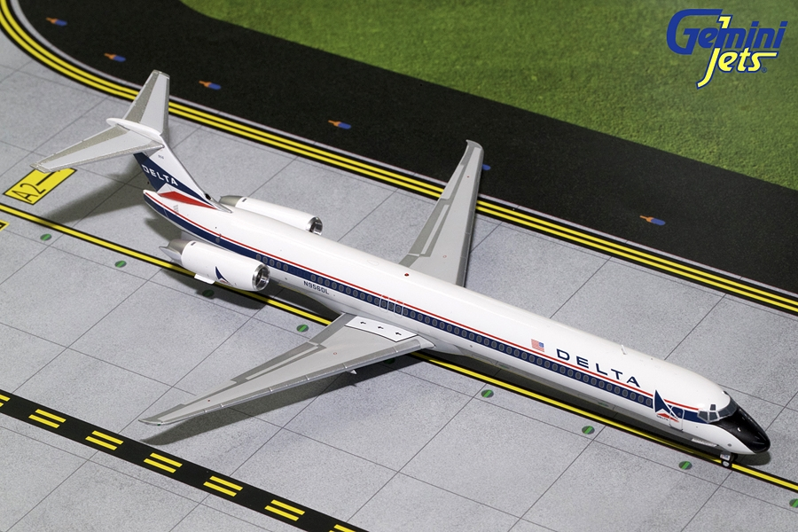 Delta MD-80 Widget Livery N956DL (1:200) - Preorder item, order now for future delivery