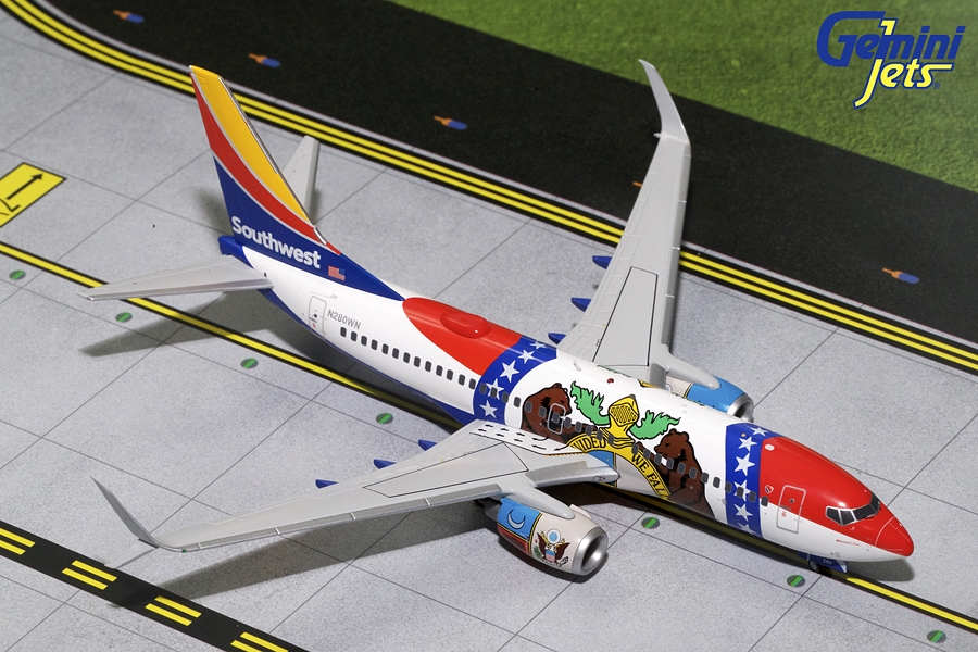 "Southwest B737-700 Sharklets ""Missouri One"" N280WN (1:200)"