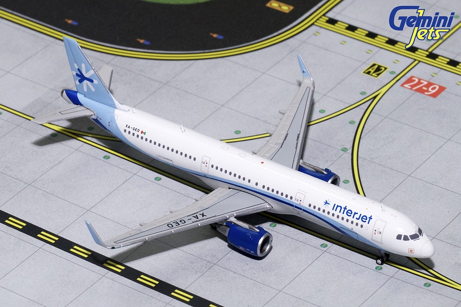 Interjet A321 Sharklets XA-GEO (1:400) - Preorder item, order now for future delivery