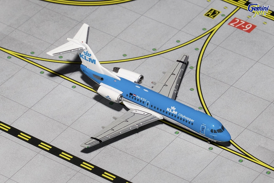 KLM Cityhopper Fokker-70 New Livery PH-KZU (1:400)