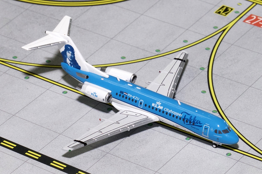 KLM Fokker 70 Farewell Livery PH-KZU (1:400) - Preorder item, order now for future delivery