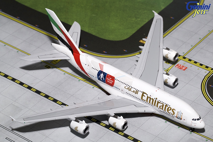 "Emirates A380-800 ""Emirates Football Association Cup"" A6-EER (1:400)"