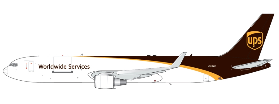 UPS B767-300(W) New Livery N320UP (1:400)