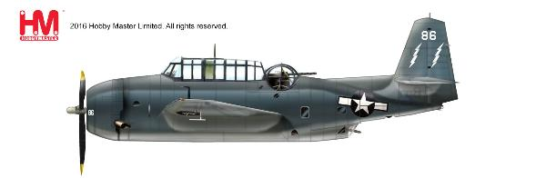 TBM-3 Avenger White 86 of VC-88, USS Saginaw Bay, March 1945 (1:72)